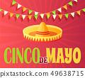 Cinco de Mayo 5th of May Greeting Poster Flat 49638715