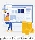 Data Analysis, Statistics Flat Vector Illustration 49640457