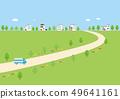 背景材料 - 与房子的风景 49641161