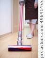 청소 (청소 진공 청소기 얼굴없는 여성 주부 바디 부품 엄마 가사 용품 복도 바닥) 49641455