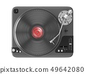 3D Rendering Vinyl Record Player 49642080