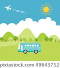 夏季城市公交车出门 49643712