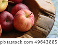 organic fresh red apples on wooden tray health gou 49643885