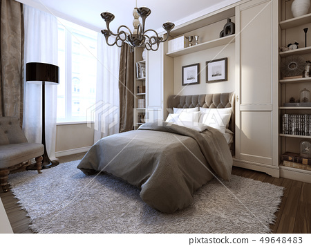 Bedroom Art Deco Style Stock Illustration 49648483 Pixta