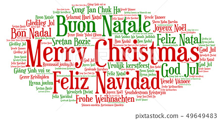 Words cloud Merry Christmas in all languages of 49649483