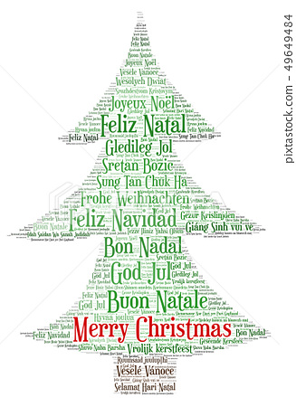 Words cloud Merry Christmas in all languages of 49649484