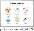 Science elements flat illustration 49649670