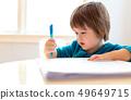 Toddler boy drawing 49649715