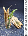 Italian grissini or salted bread sticks with 49651362