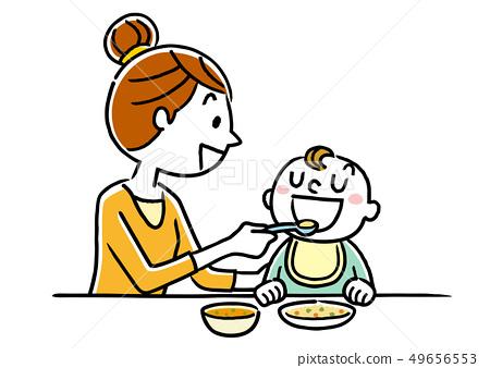 母亲给婴儿的食物 49656553