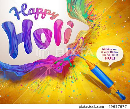 Happy Holi design 49657677