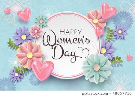 Happy women's day card 49657716