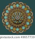 Flower motif pattern design 49657739