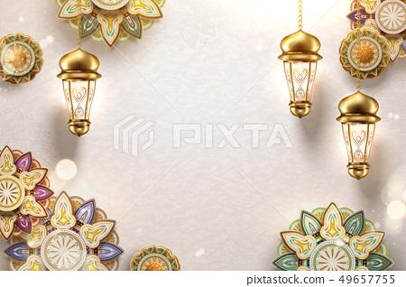 Islamic art background 49657755