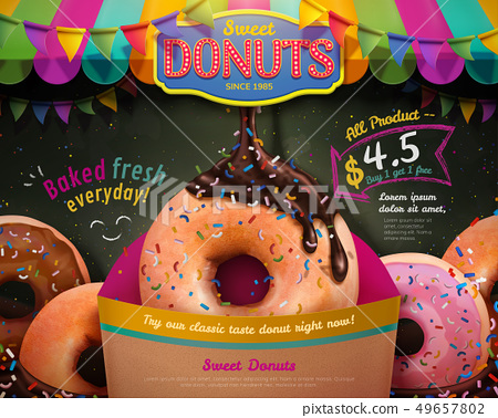 Delicious donuts ads 49657802