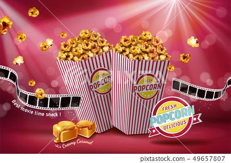 Classic caramel popcorn ads 49657807