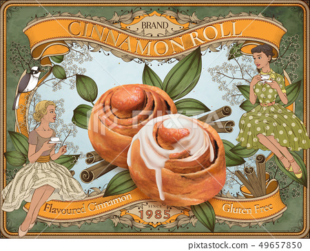 Cinnamon roll ads 49657850