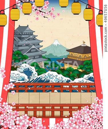 Japanese historic scenery 49657856