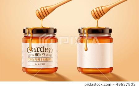 Honey glass jar 49657905