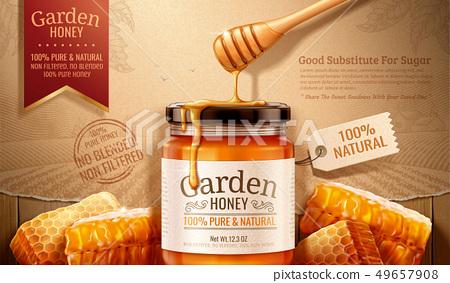 Garden honey ads 49657908