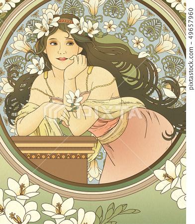 Mucha style goddess 49657960