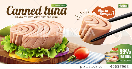 Canned tuna ads 49657968