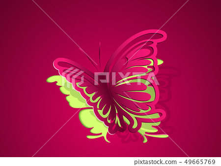 Paper Cut Out Butterfly Background 49665769