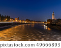 Verona and Adige River at night - Veneto Italy 49666893