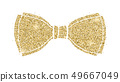 Glittering classical bow. Silhouette of bow tie 49667049