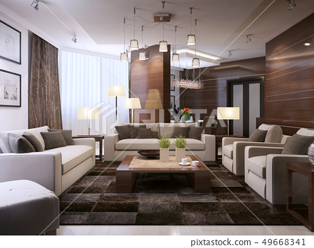 Living room modern interior 49668341