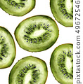 Kiwi pattern Vector watercolor. Summer fresh 49672546