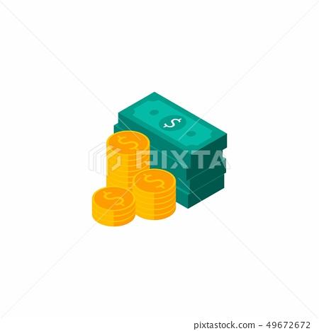 Dollars Bundles, Money, Pile of money, Vector 49672672