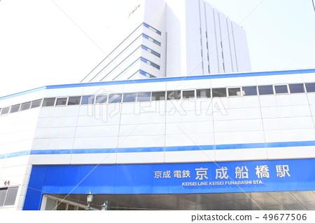 Cityscape of Keisei Funabashi Station and Funabashi 49677506