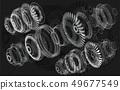 Jet Engine 3D isometric of Airplane  49677549