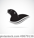 Vector of Asian Otter, Aonyx cinerea or Oriental 49679136