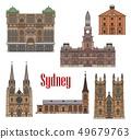 Australia Sydney architecture facades icons 49679763