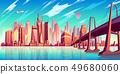 Metropolis skyline cartoon vector background 49680060