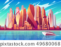Moscow downtown cityscape vector background 49680068