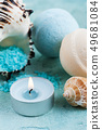 Spa products with sea shells and salt 49681084