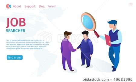 Job Searcher Allowance Horizontal Flat Banner Stock Illustration 49681996 Pixta