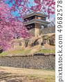 Ueda City, Nagano Prefecture Ueda Castle and Sakura 49682578