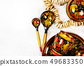 Russian khokhloma, traditional wood painting handicraft souvenirs 49683350