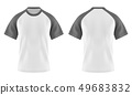 Wjote t-shirts with gray or grey sleeve and u-neck 49683832