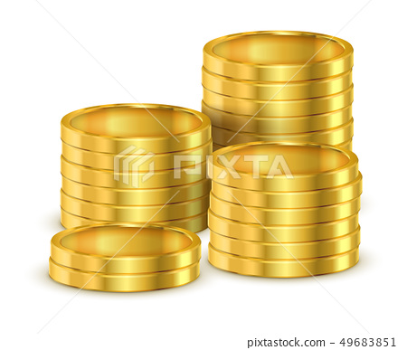 Heap of 3d coins or heap of realistic golden money 49683851