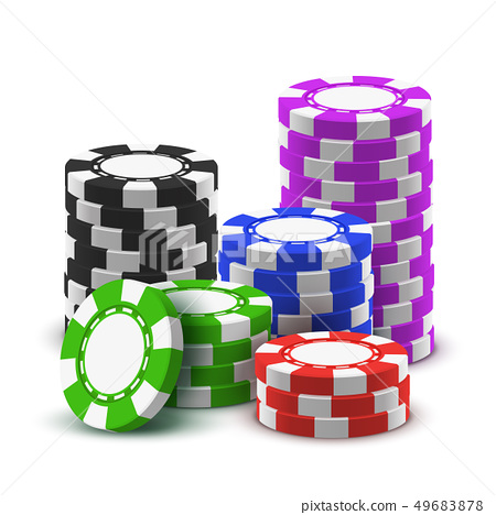 Heap sport poker chips or 3d stack of casino cash 49683878