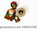 Matryoshka. Russian folk toys on white background. 49684298
