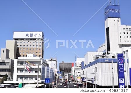 Cityscape of Utsunomiya city area (around Tobu Utsunomiya Station) 49684317