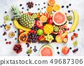 Delicious rainbow fruits 49687306