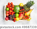 Delicious rainbow fruits 49687339