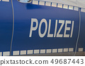 Side view of a typical German police car 49687443